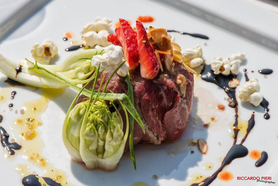 An example of a main course | Photo Riccardo Pieri