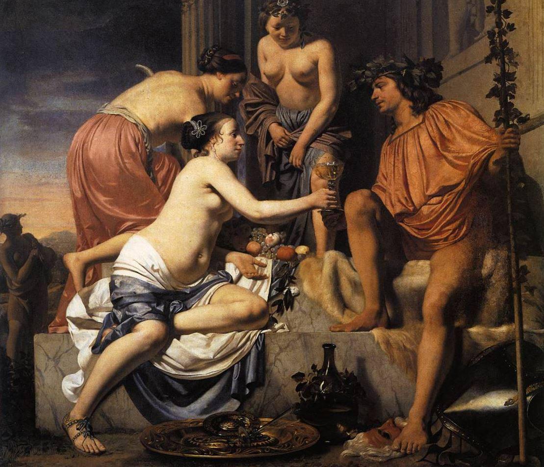 Not Renaissance painting three women nude