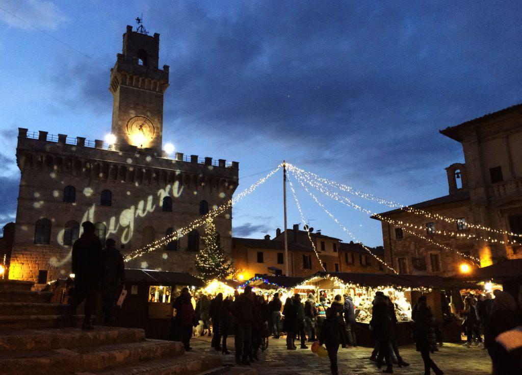 Il mercatino di natale a Montepulciano