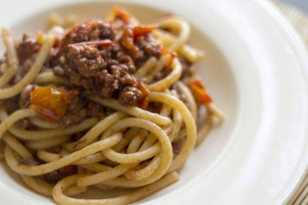 Pici with sausage: delicious! | Ph. Luca Nebuloni (Flickr Creative Commons)