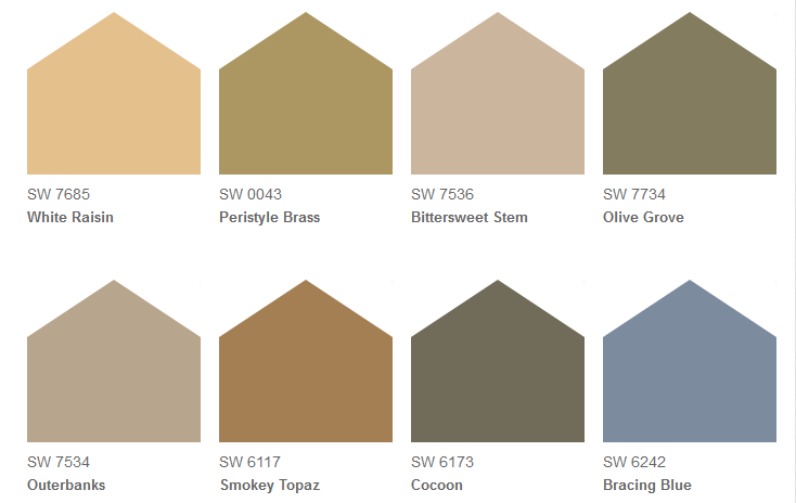 Suggested color palette by TuscanHome101