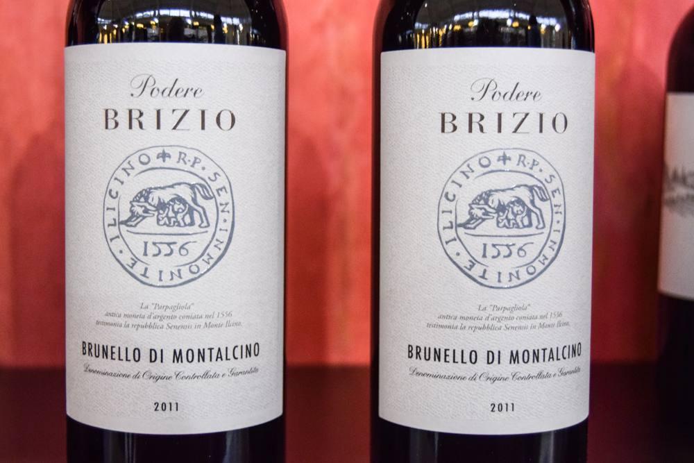 Podere Brizio's Brunello di Montalcino.