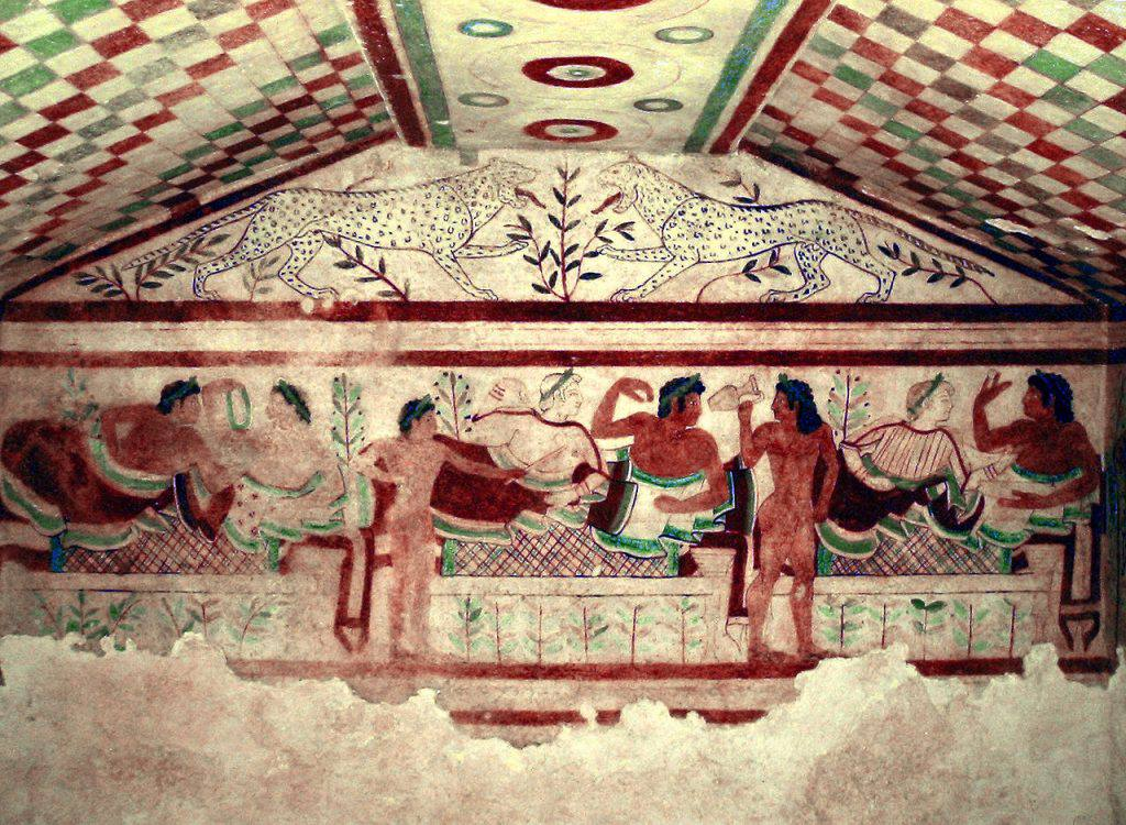 The tomb of the Leopards in Tarquinia. Definitely worth a visit!