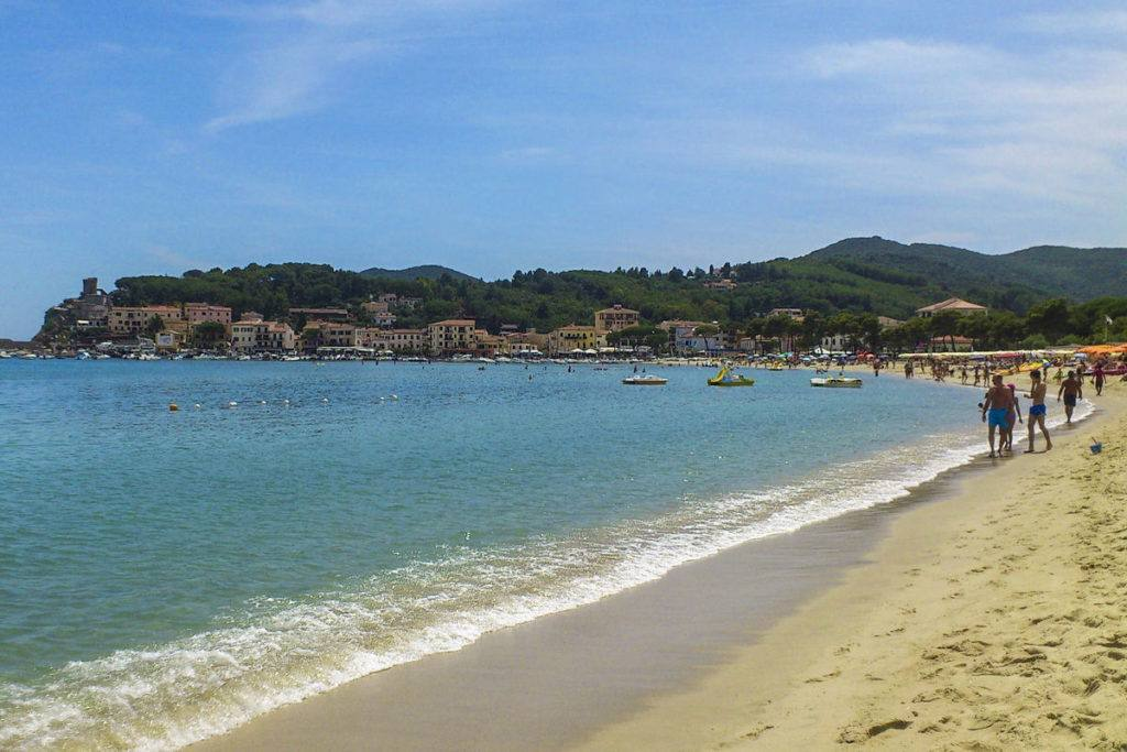 Beach in Elba Island