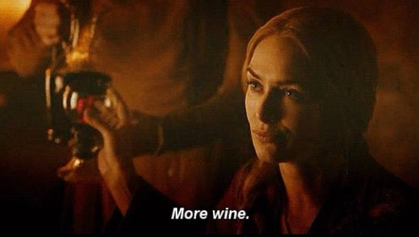 You heard the lady - she wants her daily dose of Game of Thrones Wine!