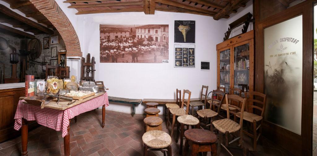 La sala dimostrazione del Museo della Pasta di Fabbri