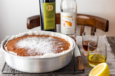 An olive oil cake from Tuscany